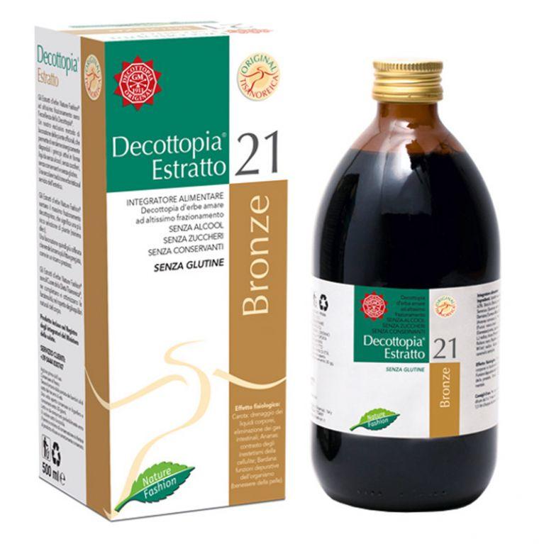 <h5><strong>Classe Decottopirica:</strong></h5><p>21 • Equilibratori Decottopirici Ponderali</p><h5><strong>Descrizione:</strong></h5><p>Integratore alimentare senza alcool, senza zuccheri, senza conservanti, senza glutine.</p><h5><strong>Effetto Fisiologico:</strong></h5><p>Carota: drenaggio dei liquidi corporei, eliminazione dei gas intestinali;<br>Ananas: contrasto degli inestetismi della cellulite;</p><p>Bardana: funzioni depurative dell'organismo (benessere della pelle).</p><h1></h1>