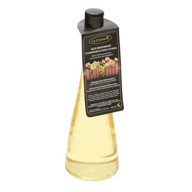olio massaggio champagne